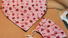 Pink Paw Bandanna