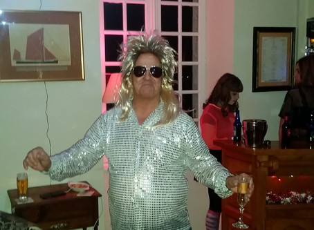 Strange Chap at New Year Party