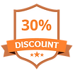 30%のディスカウントオレンジ