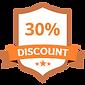 30% Discount Orange