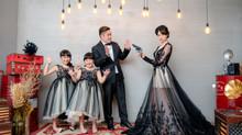 新竹全家福推薦-京華婚紗-驚人的片場主題攝影棚 儷文媽咪