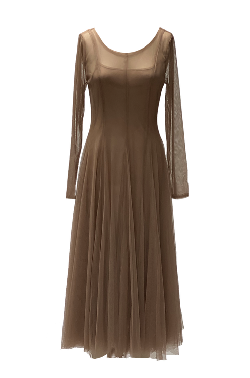 VESTIDOS TAUPE TULLE