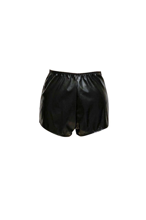 LEATHER HOT PANTS