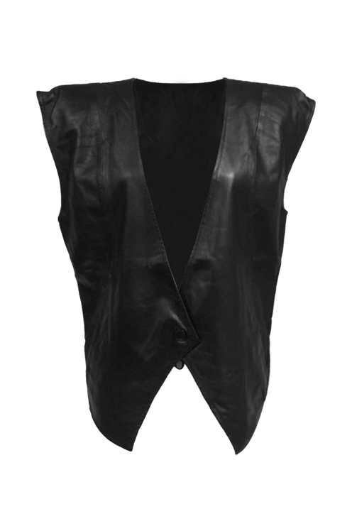 BLACK LADY LEATHER VEST
