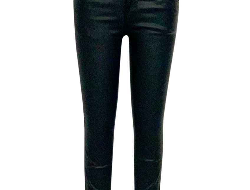 DOUBLE WAISTED LEATHER PANTS