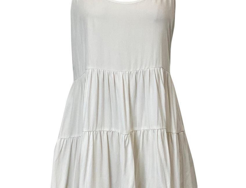 WHITE MALDIVA DRESS