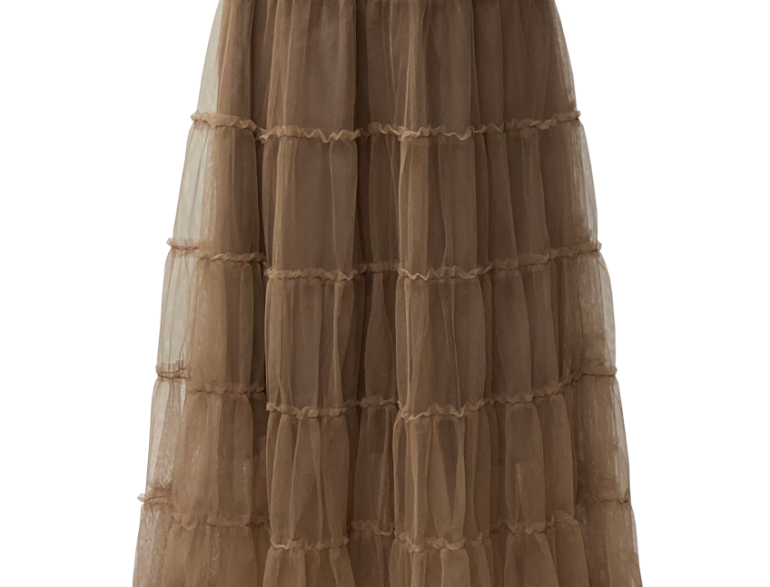 TAUPE TULLE SKIRT