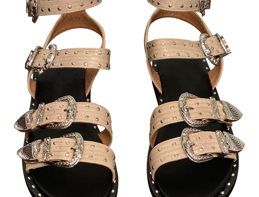 NUDE FAYETTE SANDALS