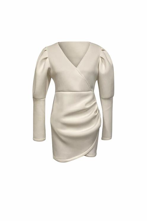 WHITE SCUBA DRESS