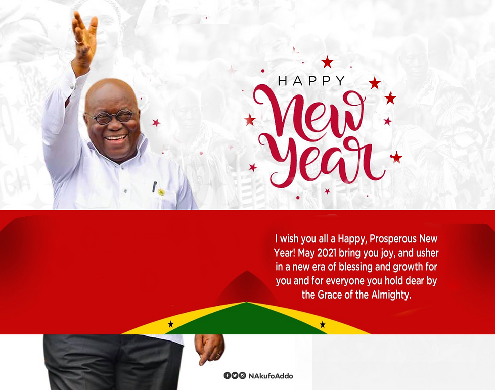 The President of Ghana. New Year Wishes.