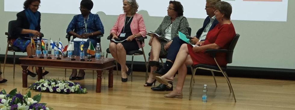 H.E Ambassador Hannah Nyarko (2nd from right)