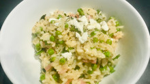 Pea and Goats' Cheese Risotto good enough to make you rise from the dead.