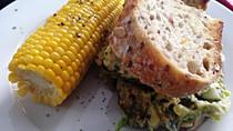 Quick Fish Sandwich with Avo Slaw