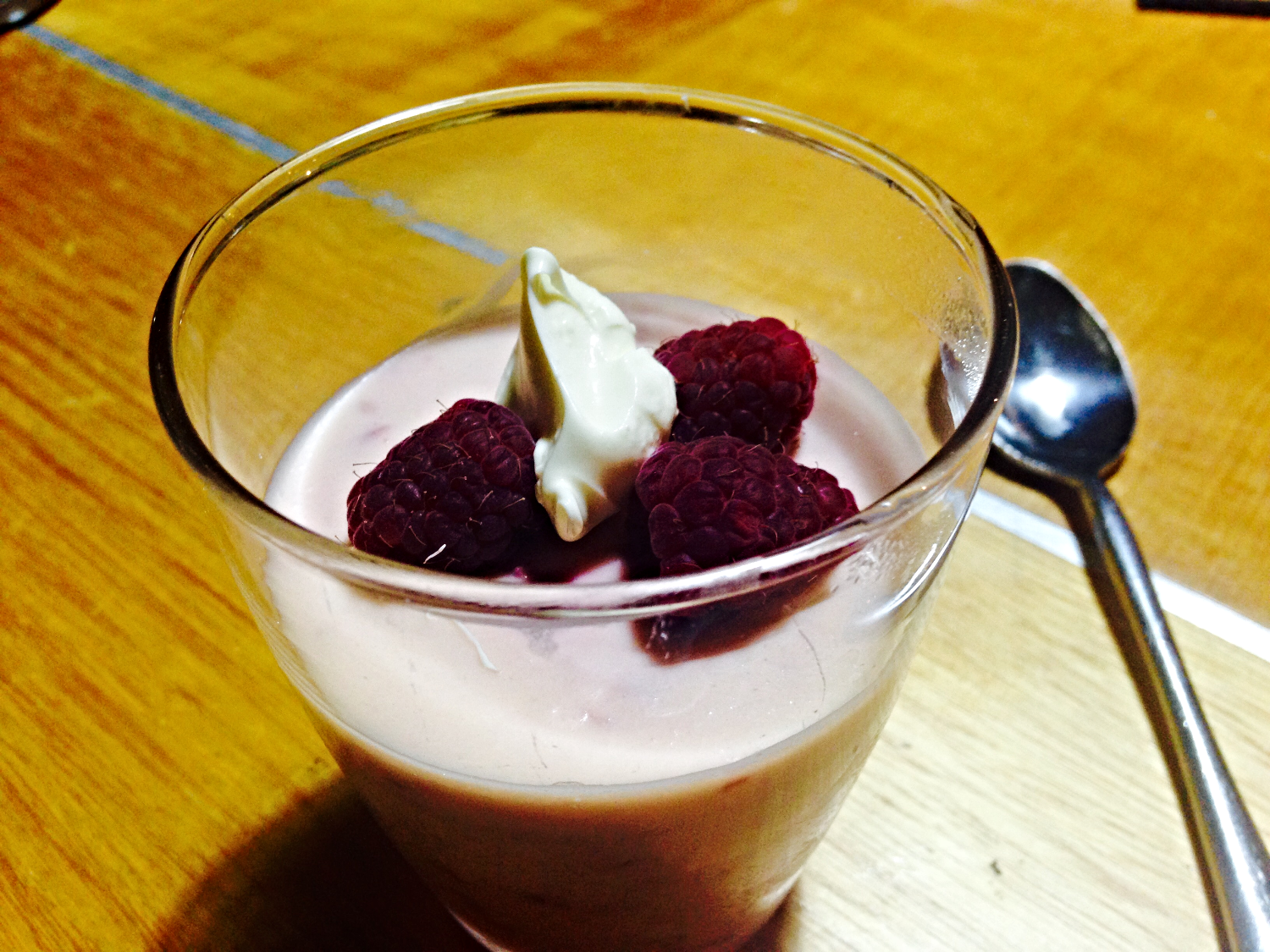 Champagne and Raspberry Mousse