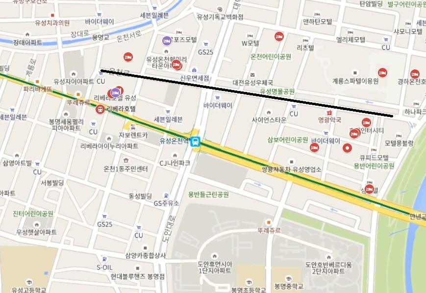 대전안마거리 정확한 좌표
