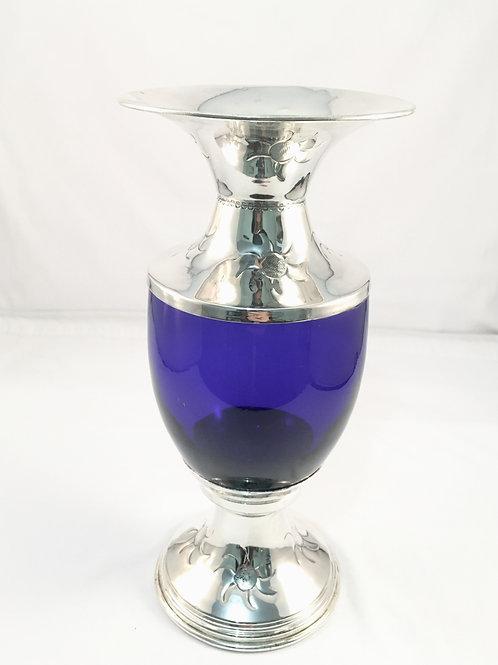 Vaso de flor vidro Azul