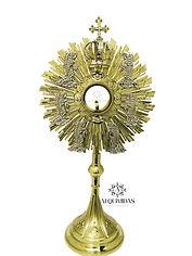 ostensório - restauração de peças liturgicas - banho de ouro em peças de igreja - douração e peças para igrejas