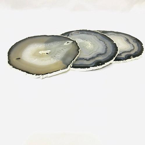 Porta jarras borda prata pedra Ágata