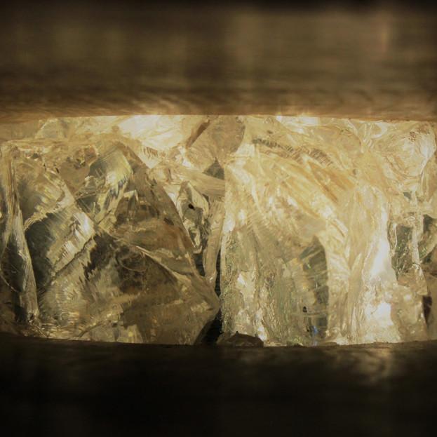 Glass effect sculpture
