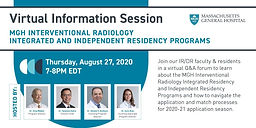 MGH IR/DR Residency Program Virtual Information Session