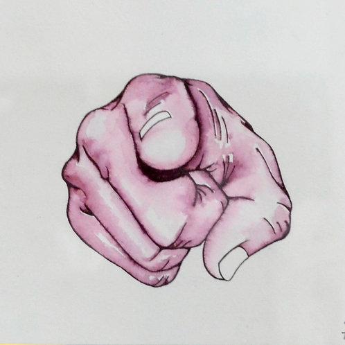 "Original Ink Drawing ""The Delegator"""