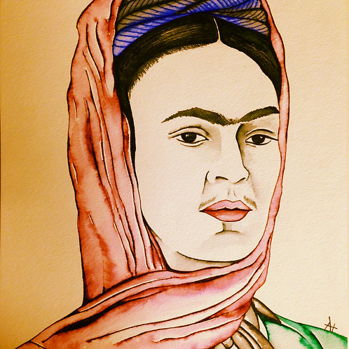 "Original Ink Drawing ""Frida"""