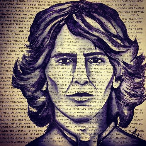 "Original Ink Drawing ""Here Comes George"""