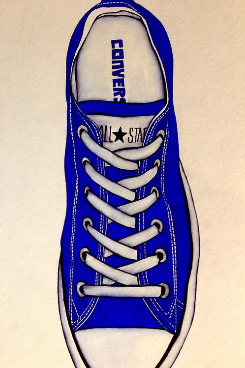 """Original Ink Drawing """"Laxed Sole"""""""