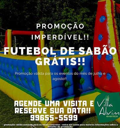 Promoção imperdível!__Futebol de sabão n