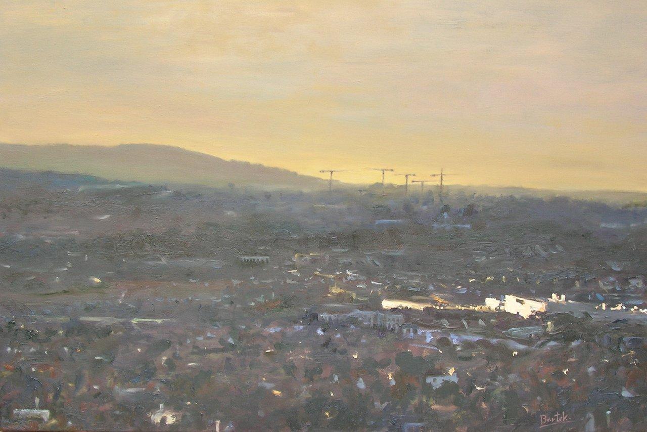 Late evening over Dublin (60x90)
