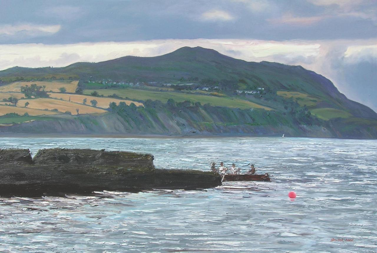 Rowers in Greystones (100x150)