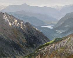 Jezioro w Alpach (24x30 cm)