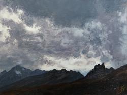 Porywisty wiatr - pejzaż alpejski