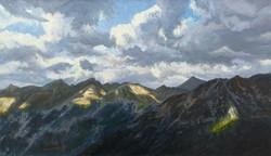 Alpy - wietrzny dzień (40x70 cm)