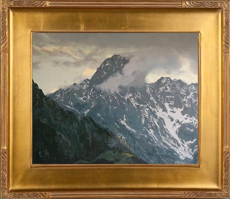 Szczyt we mgle (50x61)