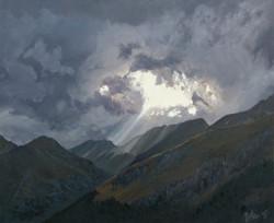 Pochmurne niebo nad Alpami (50 x 61 cm)