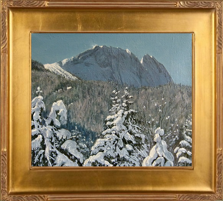 Widok na Giewont zimą (25x30)