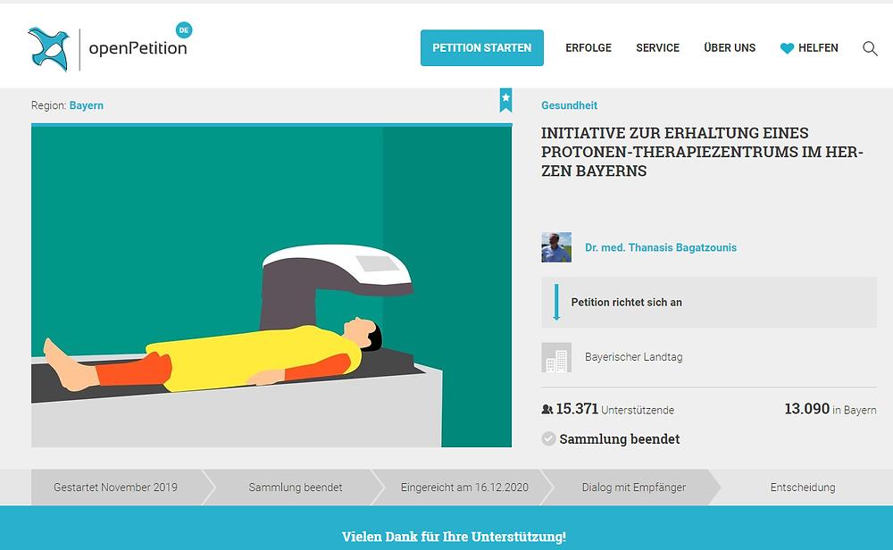*** UPDATE (16/12/20): Die Plattform openPetition hat die Petition offiziell im Petitionsausschuss des Bayerischen Landtages eingereicht.