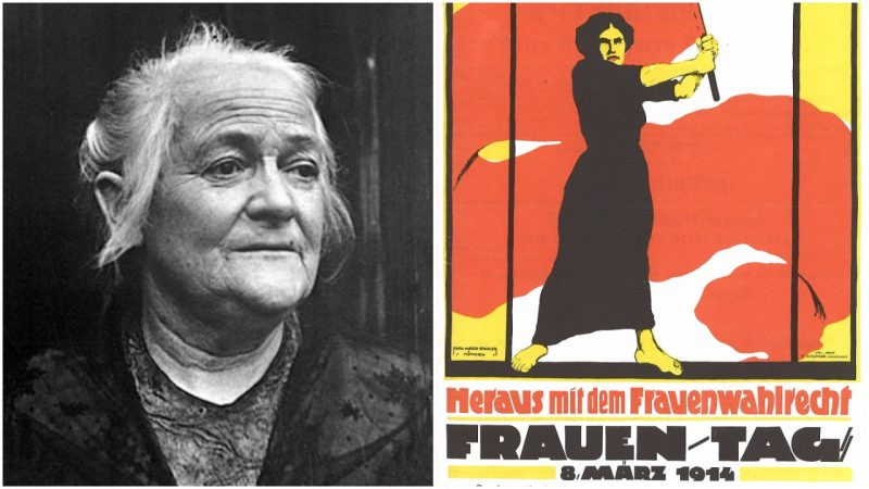 """Clara Zetkin- The German Marxist politician was one of the figures behind the first International Women's Day in 1911"". Found in: thevintagenews.com"