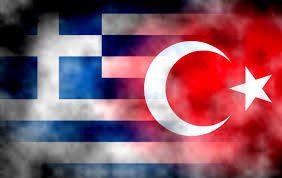 Die Flaggen von Griechenland und der Türkei (gemeinfrei)