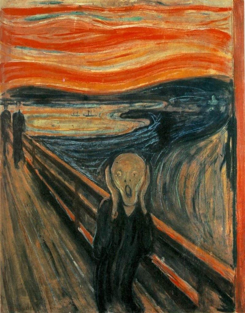 Influenza-inspiriert? Der Schrei von Edvard Munch (1893), © gemeinfrei, gefunden in: ibiblio Page: www.ibiblio.org/wm/paint/auth/munch.