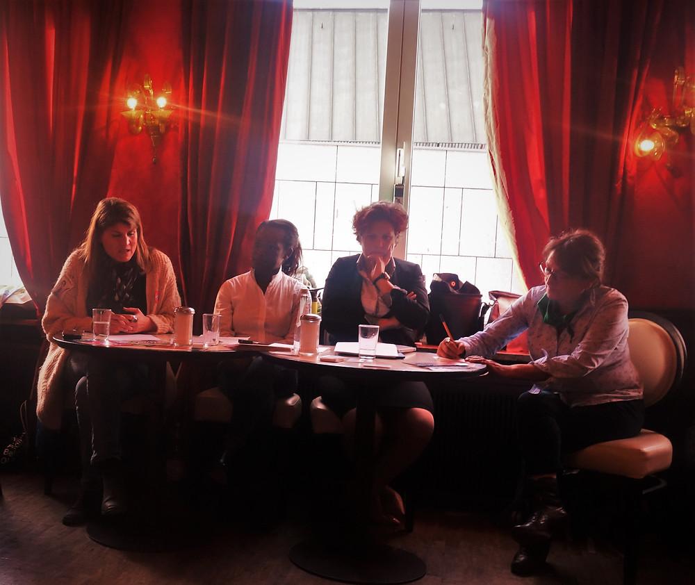 v.l.n.r.: Claudia Stamm, Marie-Jules Mpot Mimbang, Johanna Panagiotou Victoria Mali, Dr. Corina Toledo