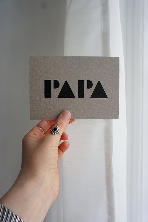 Postkarte - Papa