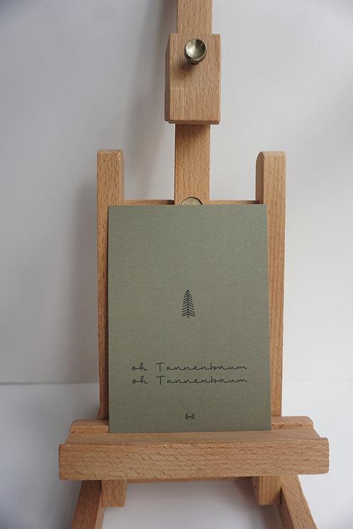 Weihnachtskarte - Tannenbaum