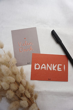 Postkarten-Set - Danke