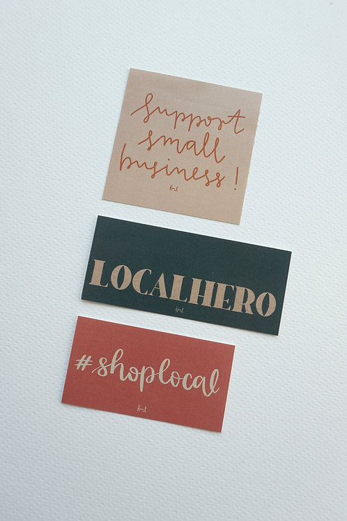 Sticker-Set - localhero