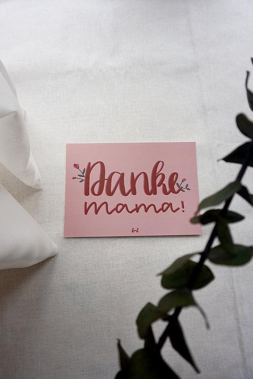 Postkarte - Danke Mama
