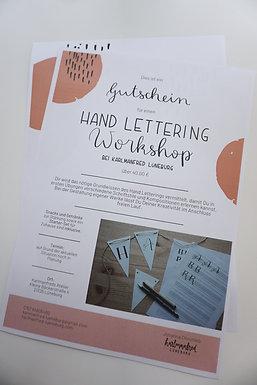 Gutschein - Hand Lettering Workshop