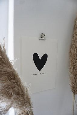 Siebdruckbild - Liebe