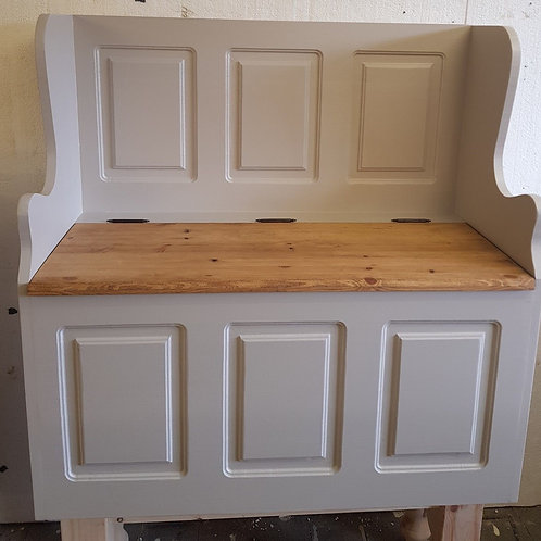 3ft Solid pine Painted monks Bench Painted in F&B
